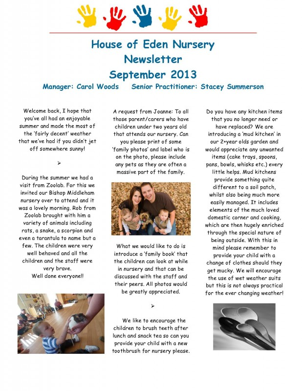 Fishburn Newsletter September 2013