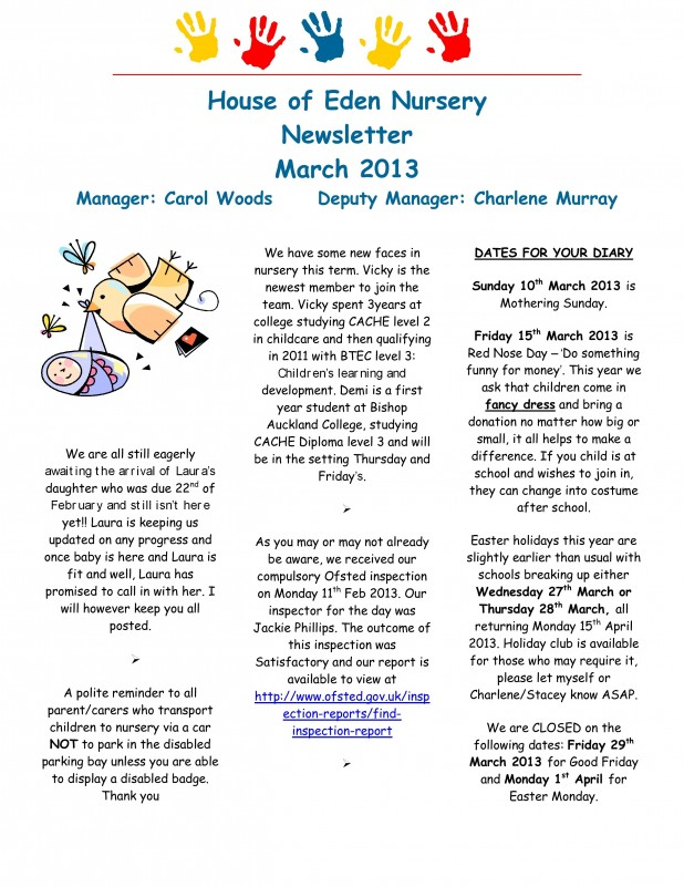 Fishburn Newsletter March 2013